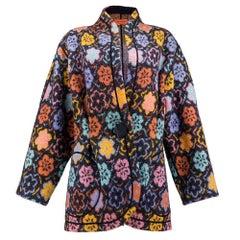 90s Missoni Knit Floral Motif Jacket