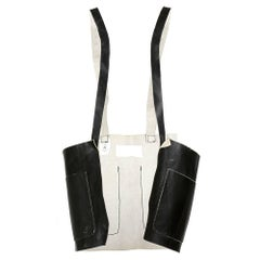 Margiela Open Front Leather Pinafore Apron