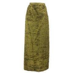 50s Sybil Connolly Full Length Deep Olive Green Evening Skirt
