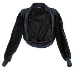 1990s Yohji Yamamoto Black Velvet Shrug