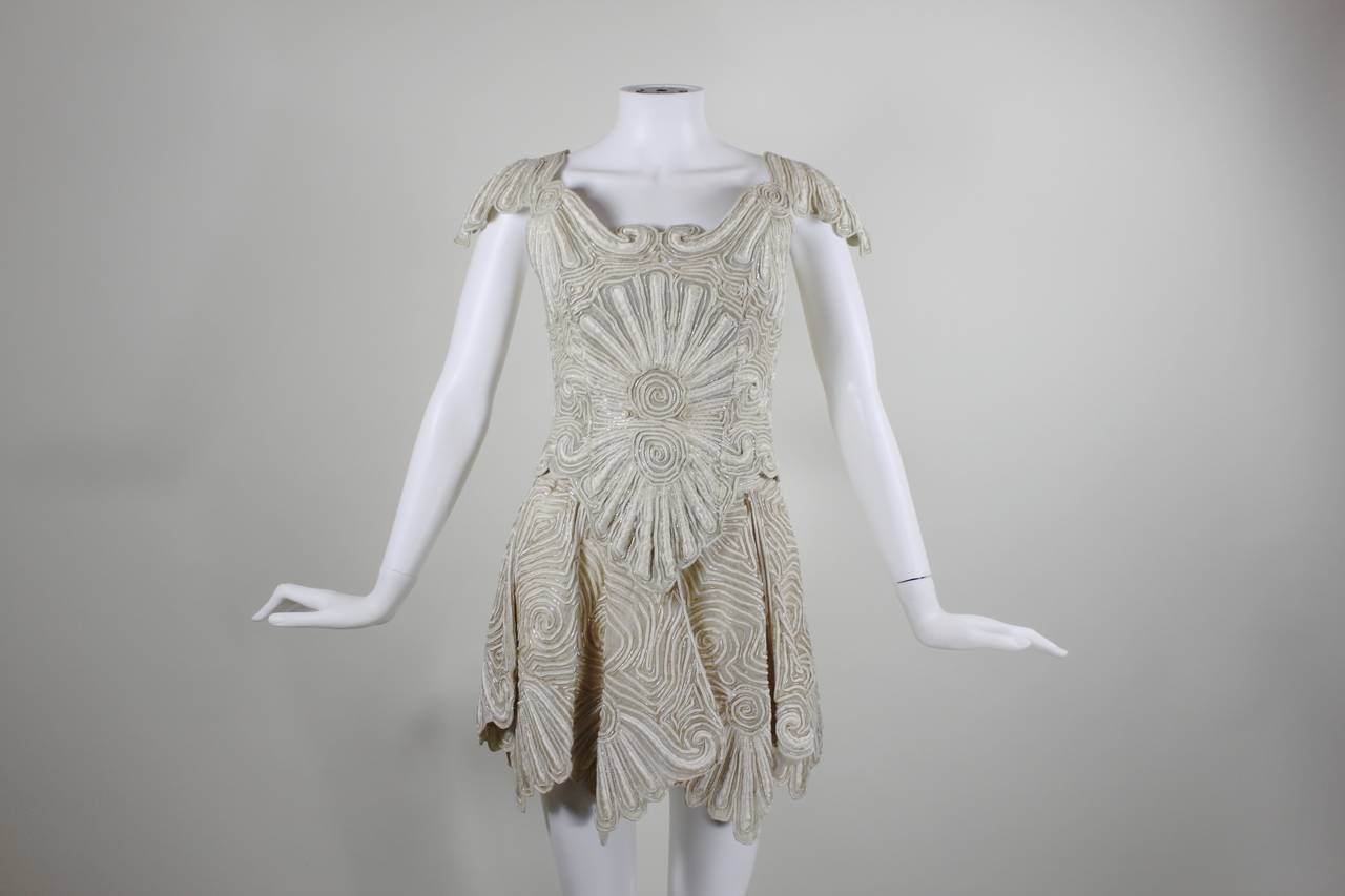1980s Eavis & Brown Beaded and Embroidered Ensemble 3