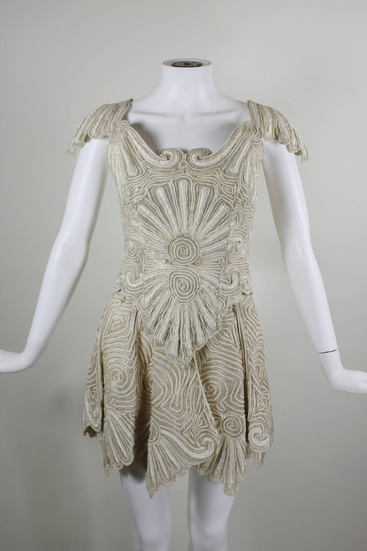 1980s Eavis & Brown Beaded and Embroidered Ensemble 4