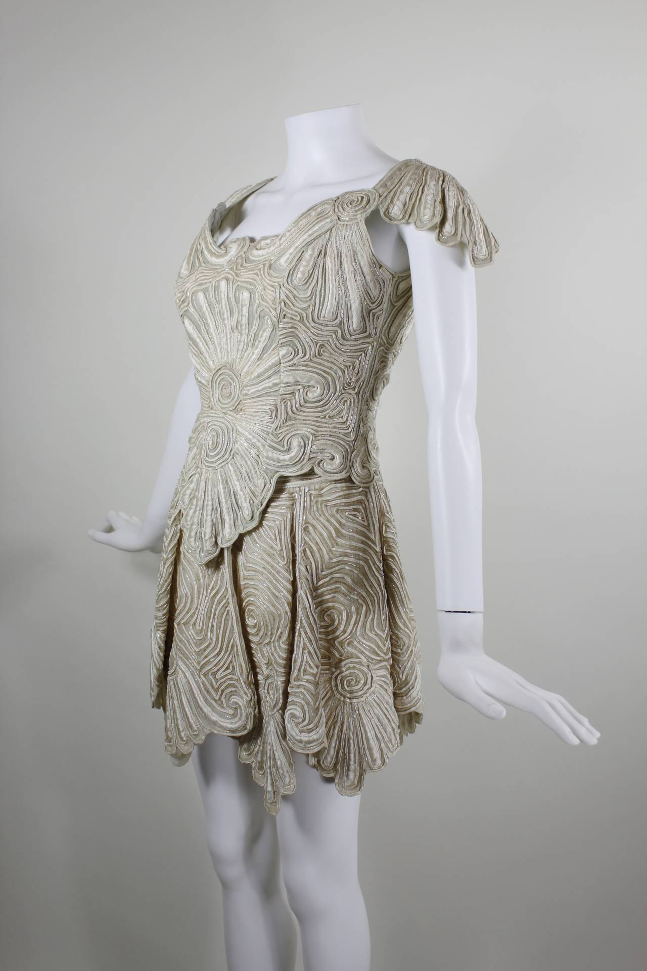 1980s Eavis & Brown Beaded and Embroidered Ensemble 2