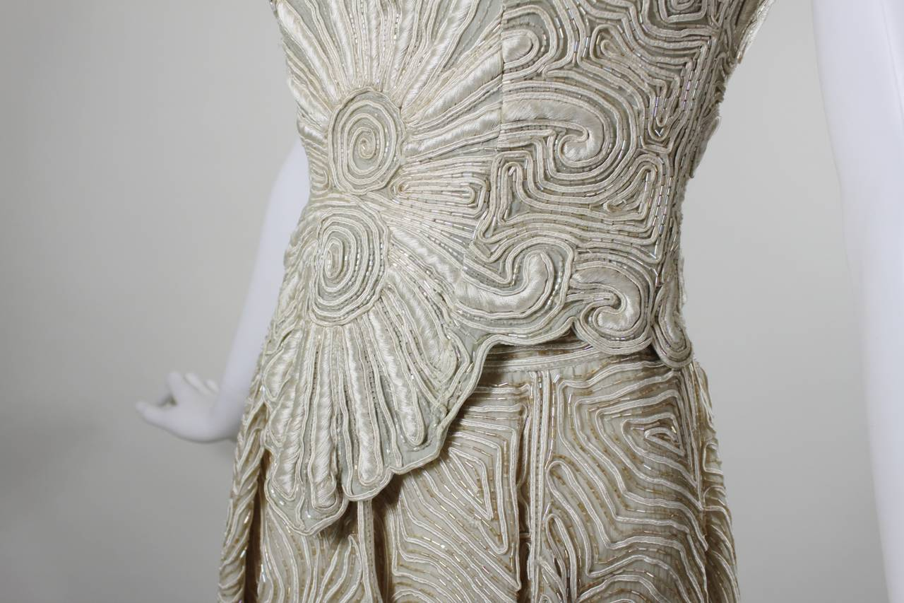 1980s Eavis & Brown Beaded and Embroidered Ensemble 7