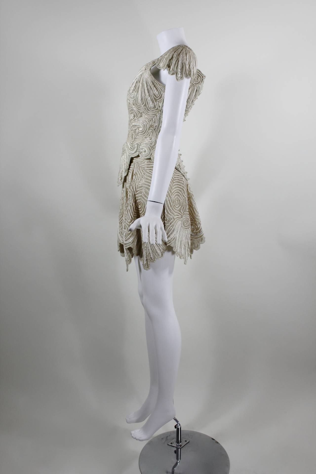 1980s Eavis & Brown Beaded and Embroidered Ensemble 8
