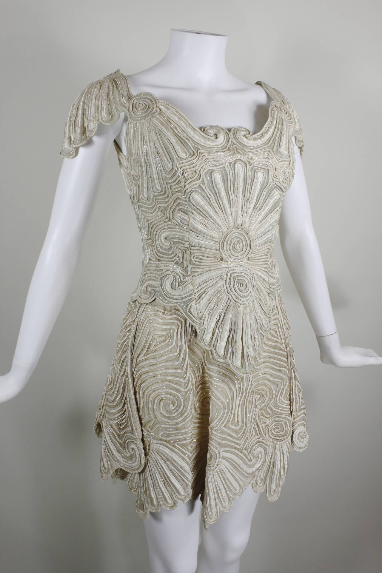1980s Eavis & Brown Beaded and Embroidered Ensemble 10