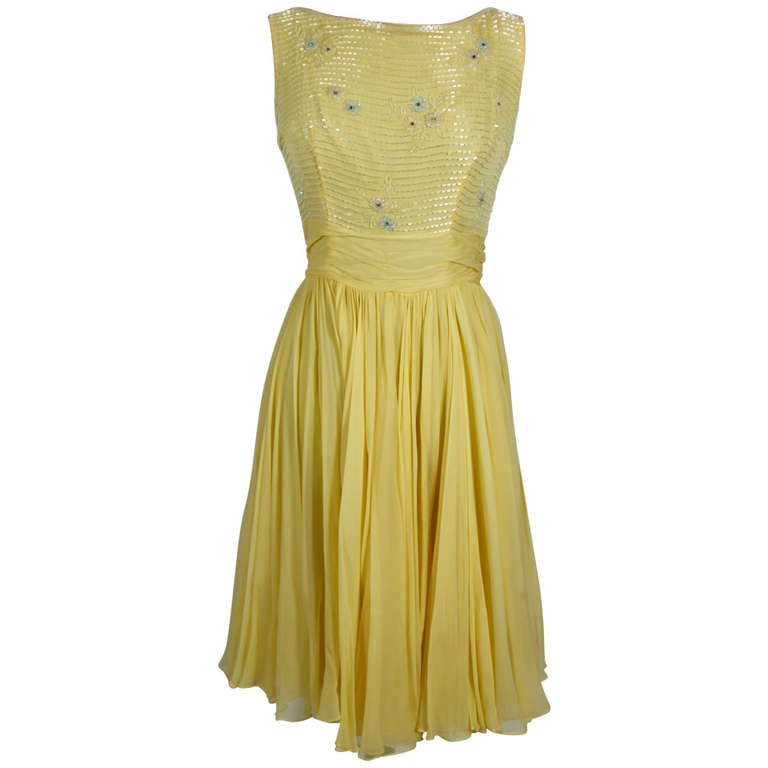 Yellow Cocktail Dresses For Sale 103