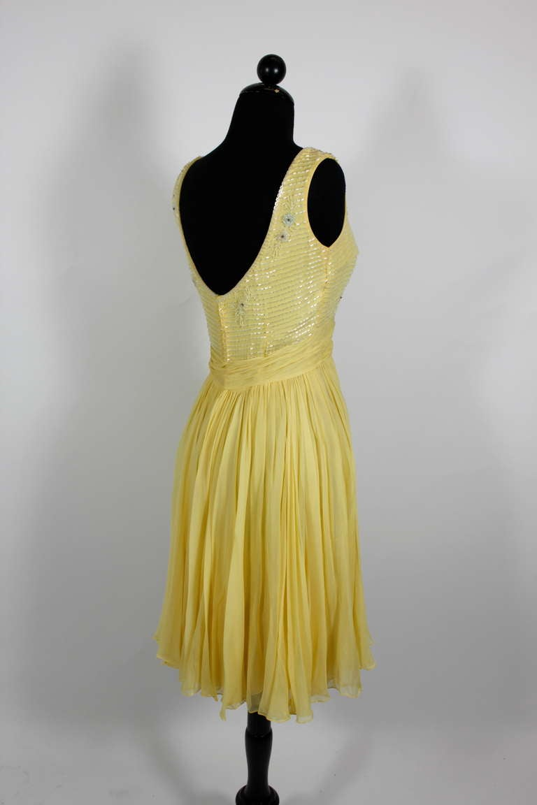 Yellow Cocktail Dresses For Sale 77