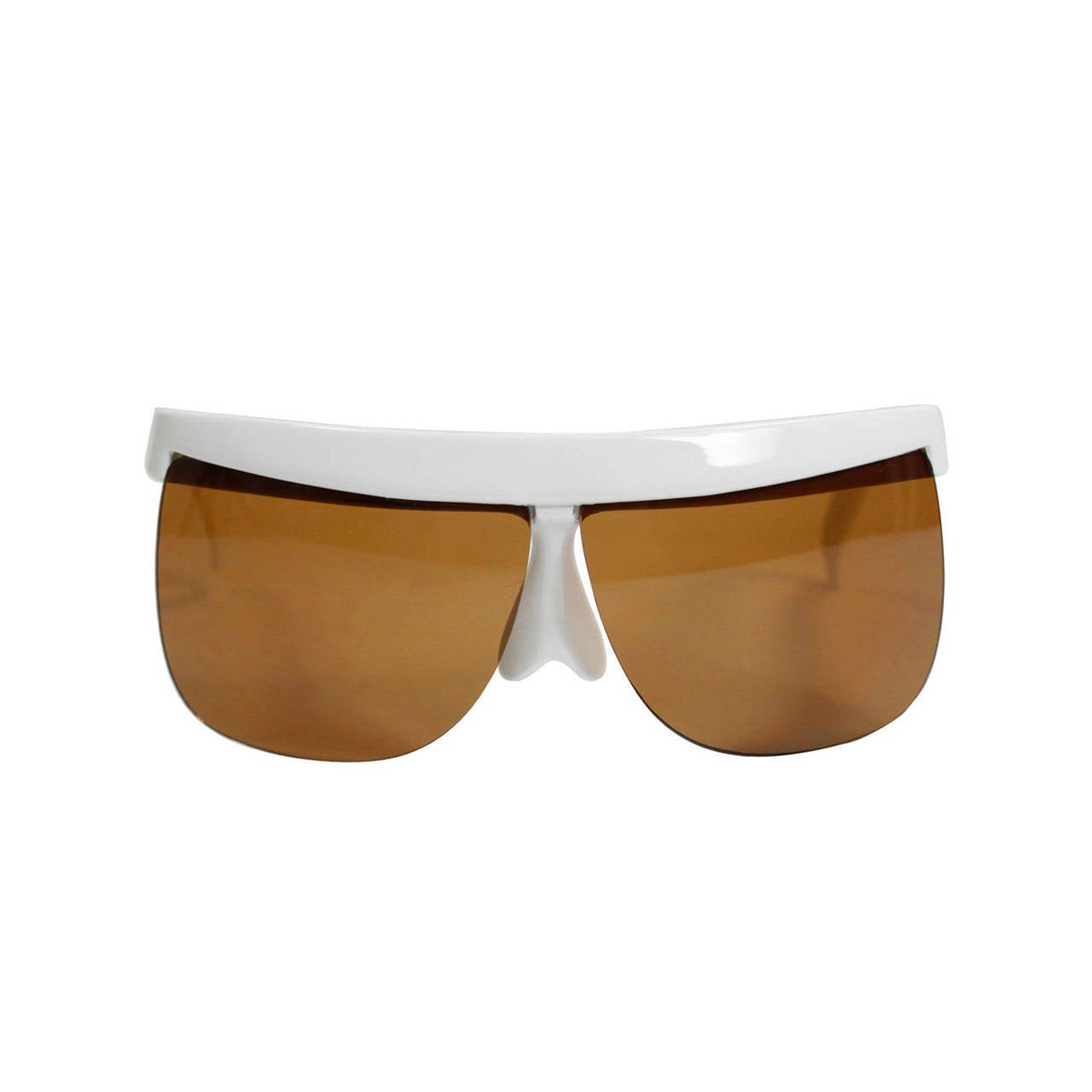 1960s Courreges White Sunglasses For Sale