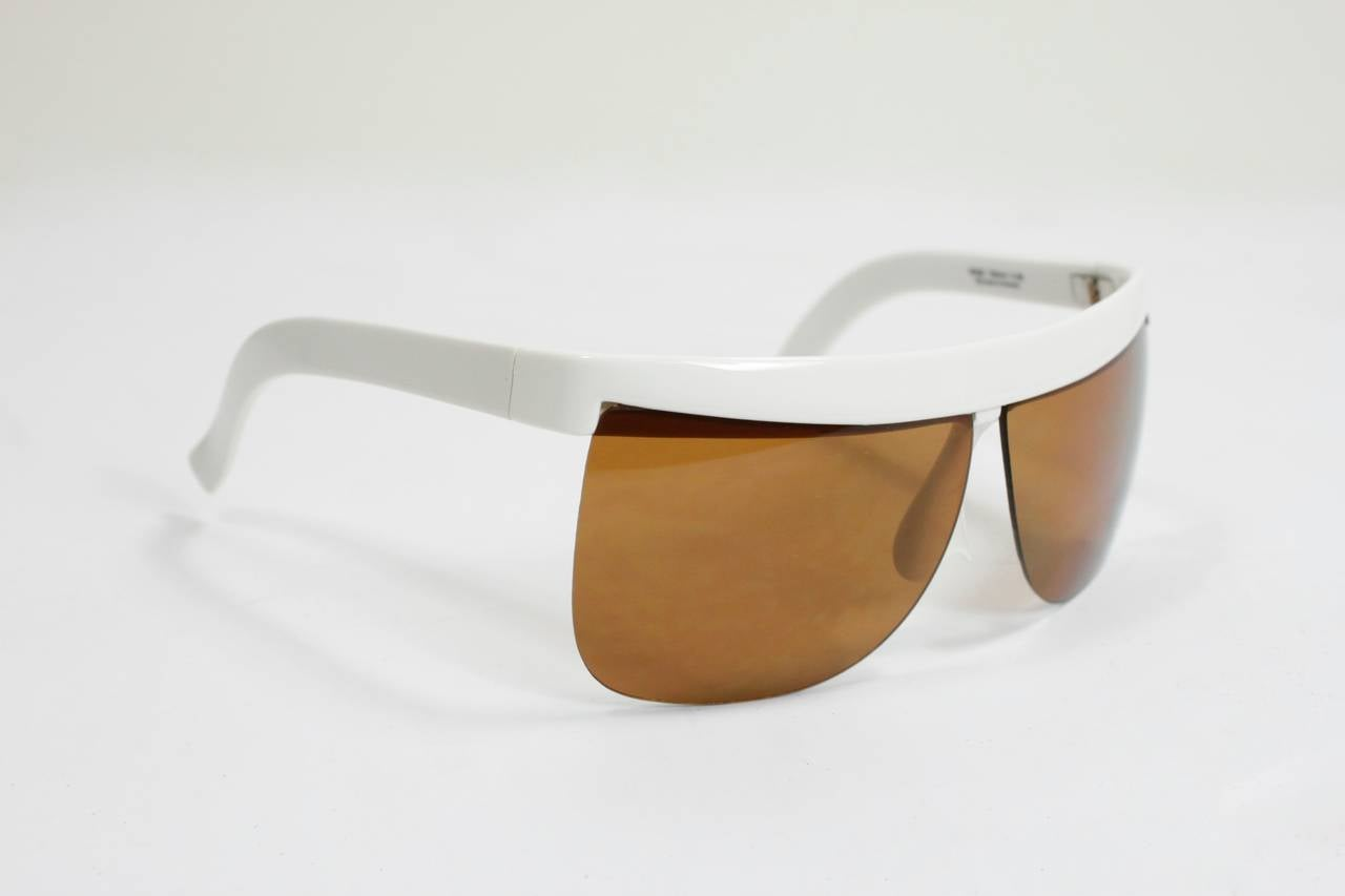1960s Courreges White Sunglasses For Sale 1