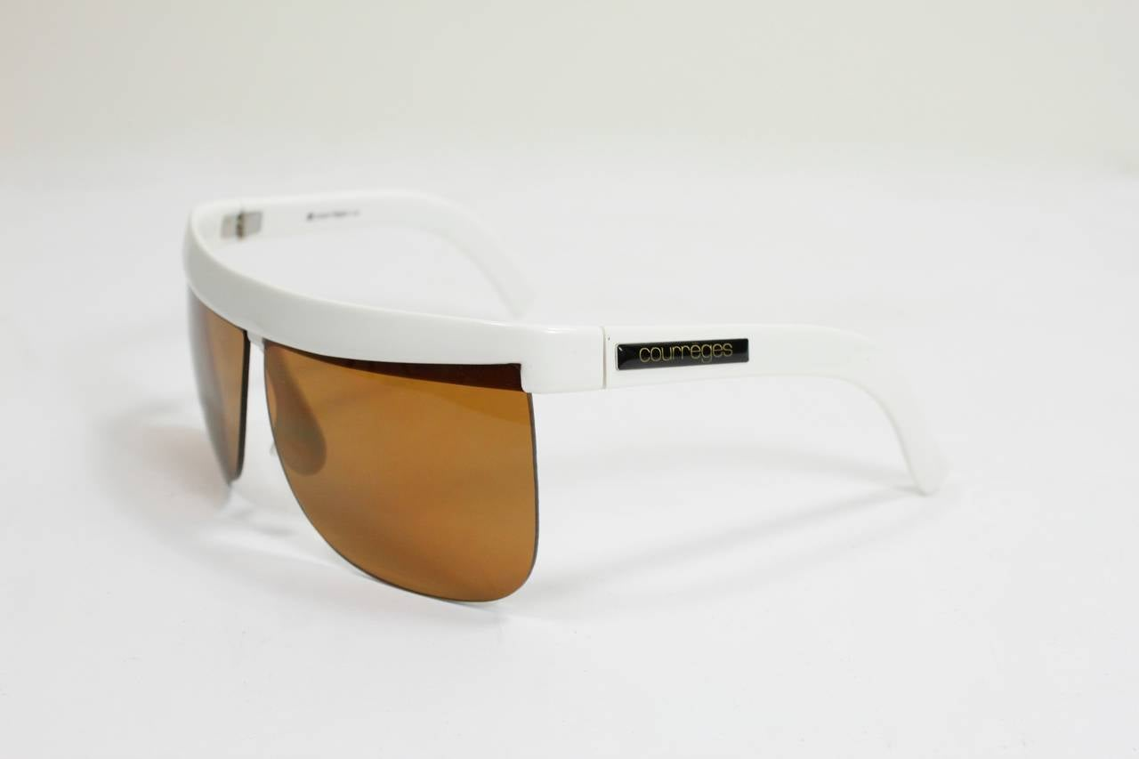 1960s Courreges White Sunglasses 4