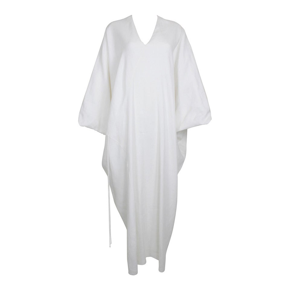 Chado Ralph Rucci White Linen Modern Caftan 1
