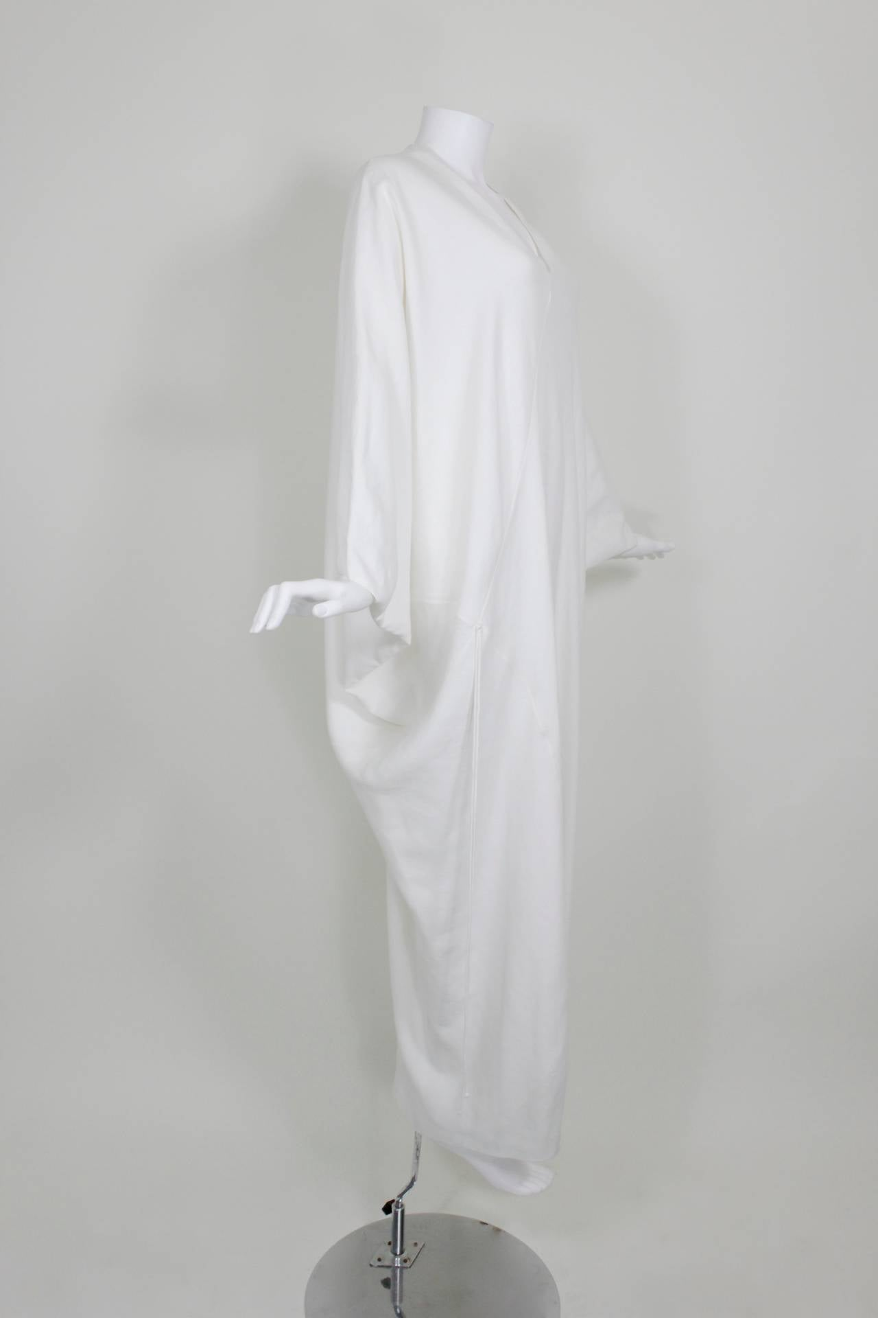 Chado Ralph Rucci White Linen Modern Caftan 3