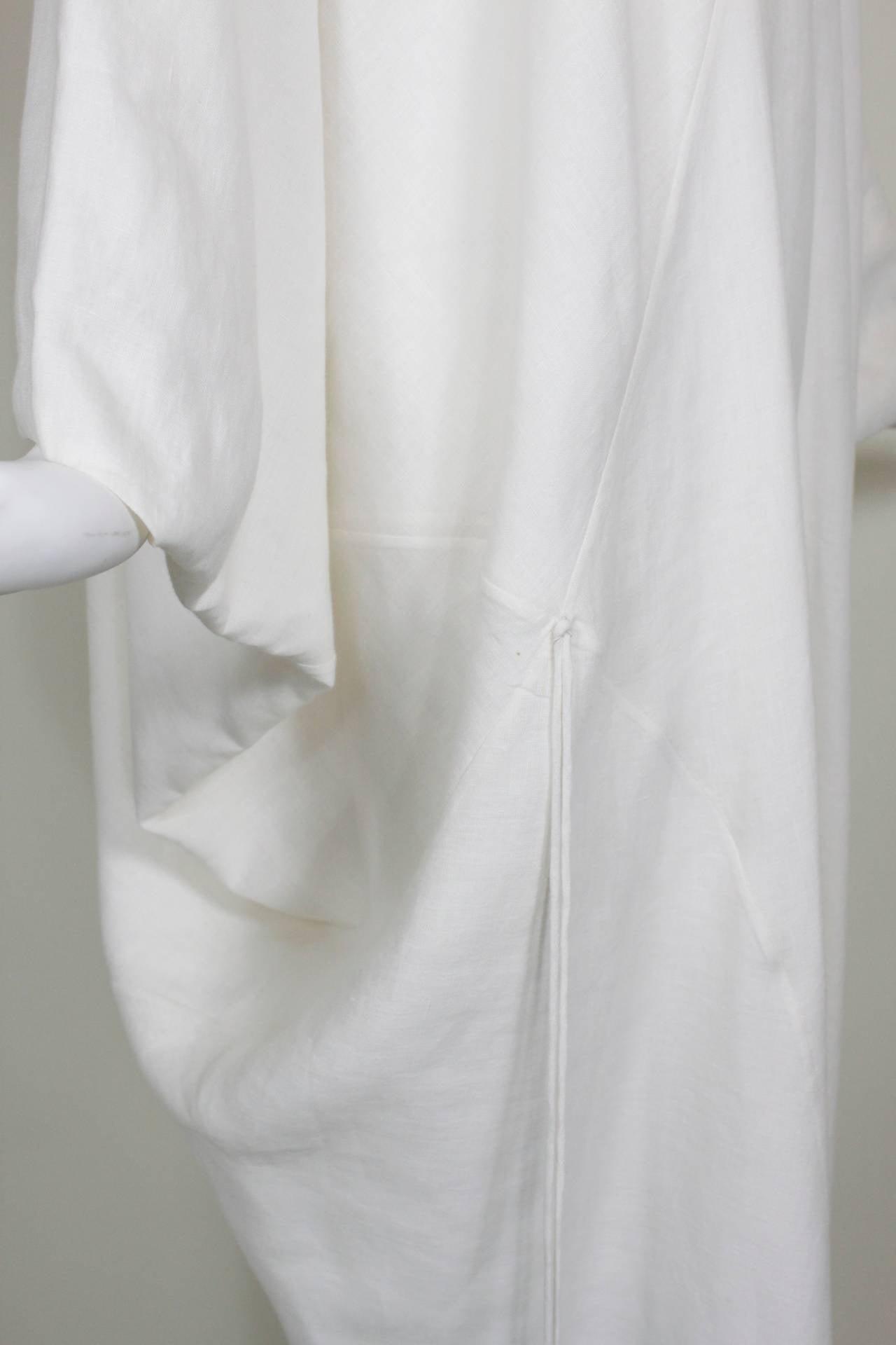 Chado Ralph Rucci White Linen Modern Caftan 5