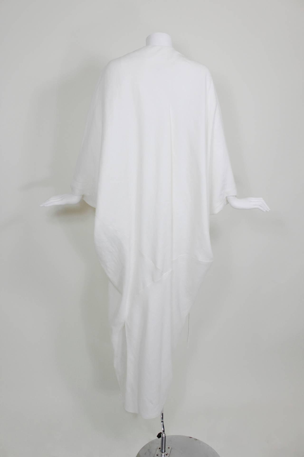 Chado Ralph Rucci White Linen Modern Caftan 4