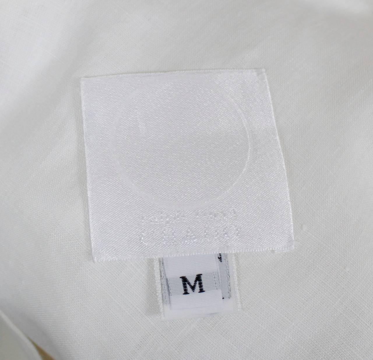 Chado Ralph Rucci White Linen Modern Caftan 6