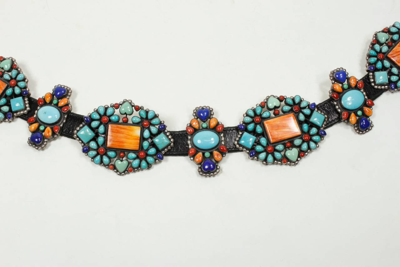 1980s Native American Inspired Concho Belt 3