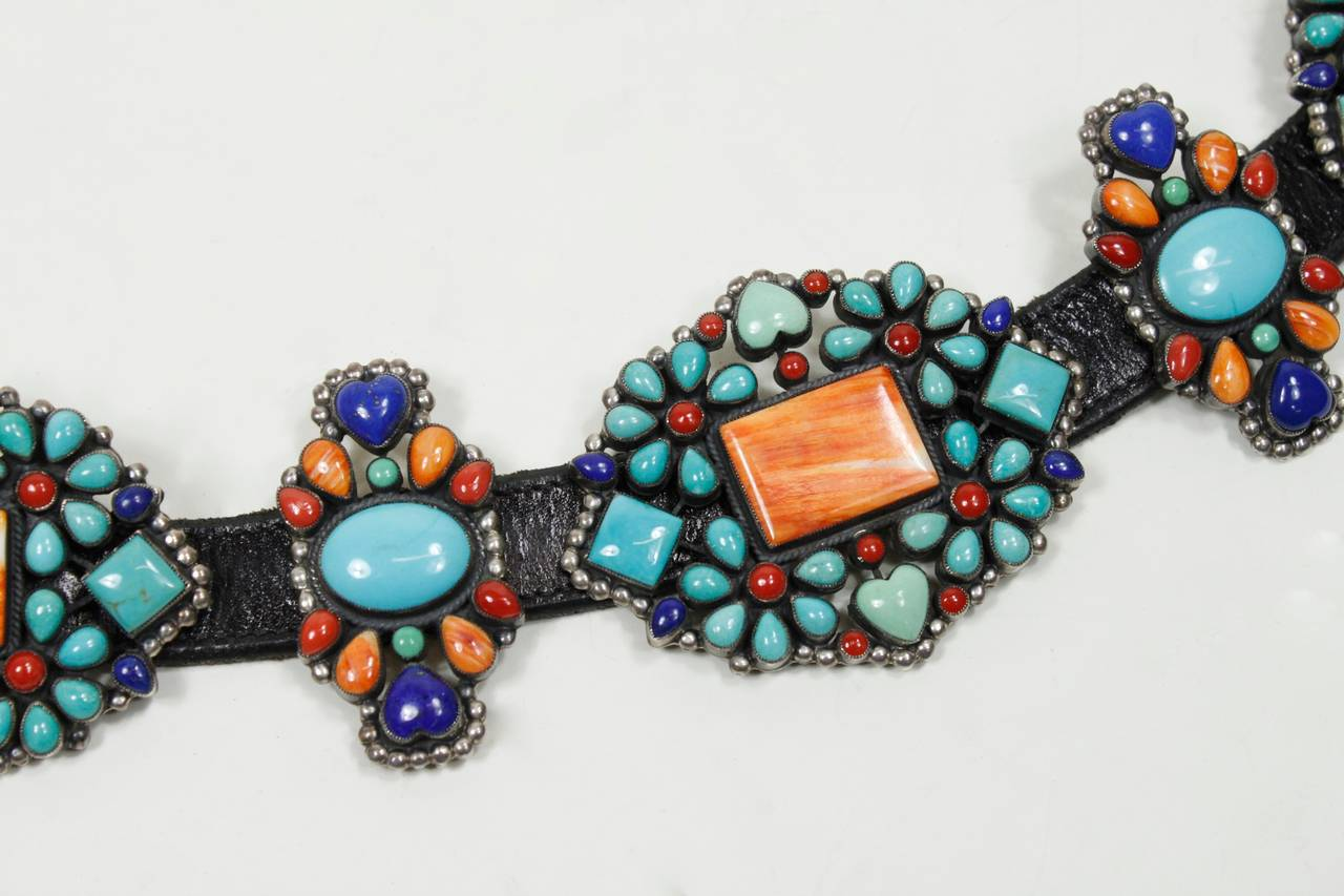 1980s Native American Inspired Concho Belt 4