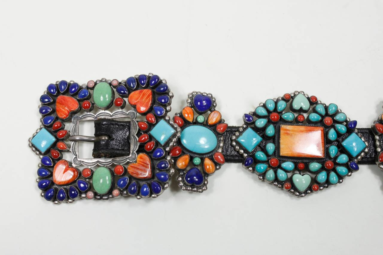1980s Native American Inspired Concho Belt 5