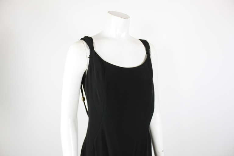 Christian Lacroix 1990s Black Evening Gown with Gold Baubles For Sale 5
