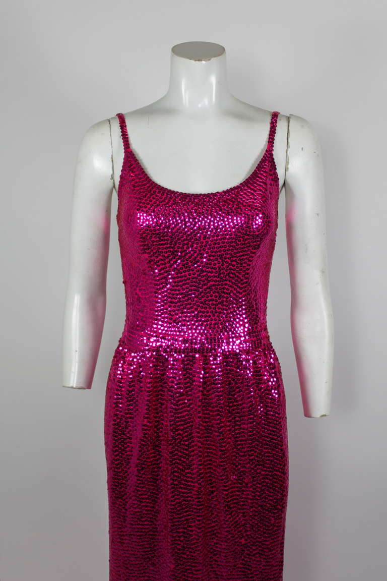 Norell Attribution Pink Mermaid Gown 3