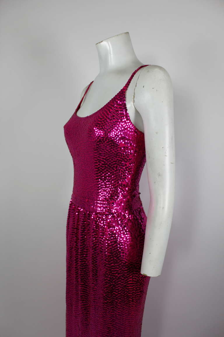 Norell Attribution Pink Mermaid Gown 4