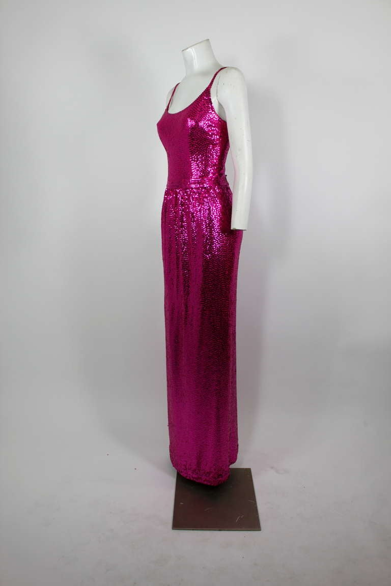 Norell Attribution Pink Mermaid Gown 6