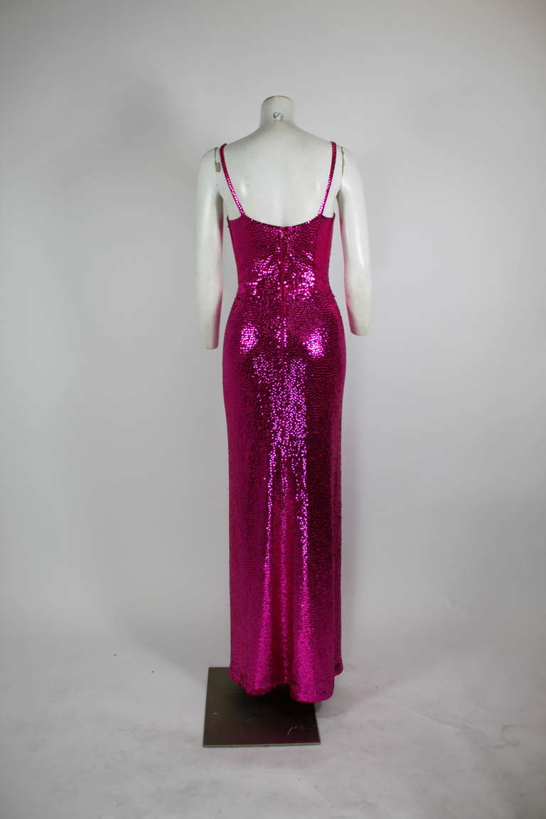 Norell Attribution Pink Mermaid Gown 7