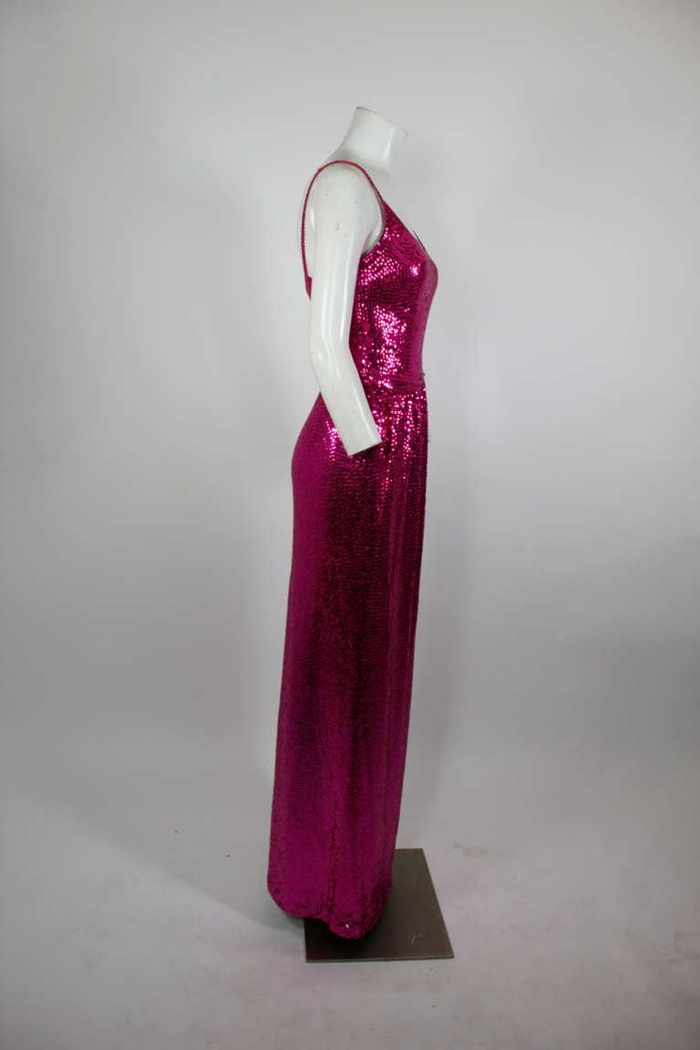 Norell Attribution Pink Mermaid Gown 8