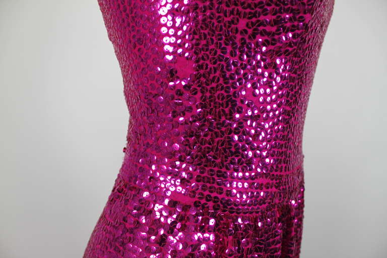 Norell Attribution Pink Mermaid Gown 9