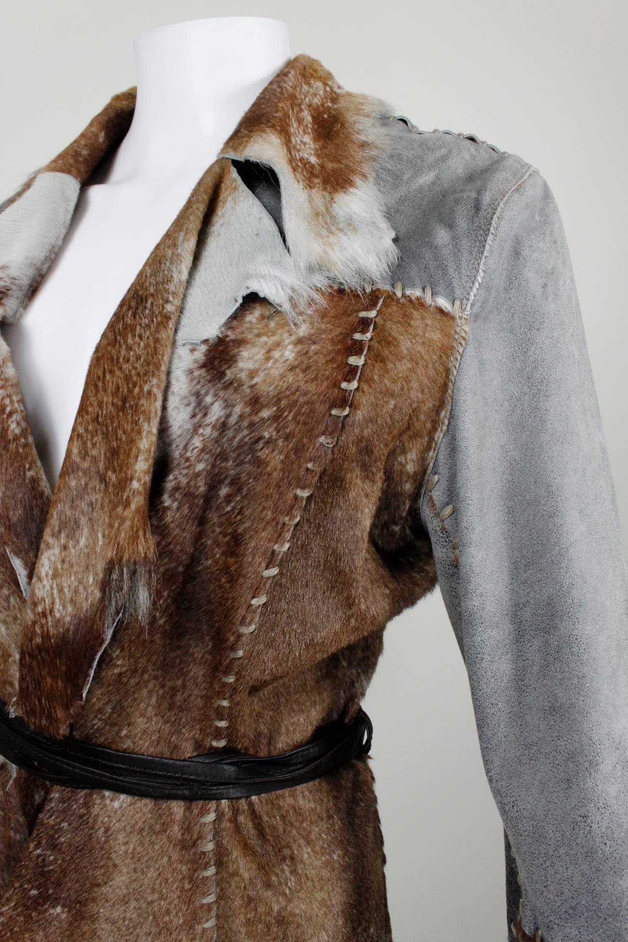 Schimmel Patchwork Raw Edged Goat Jacket 7