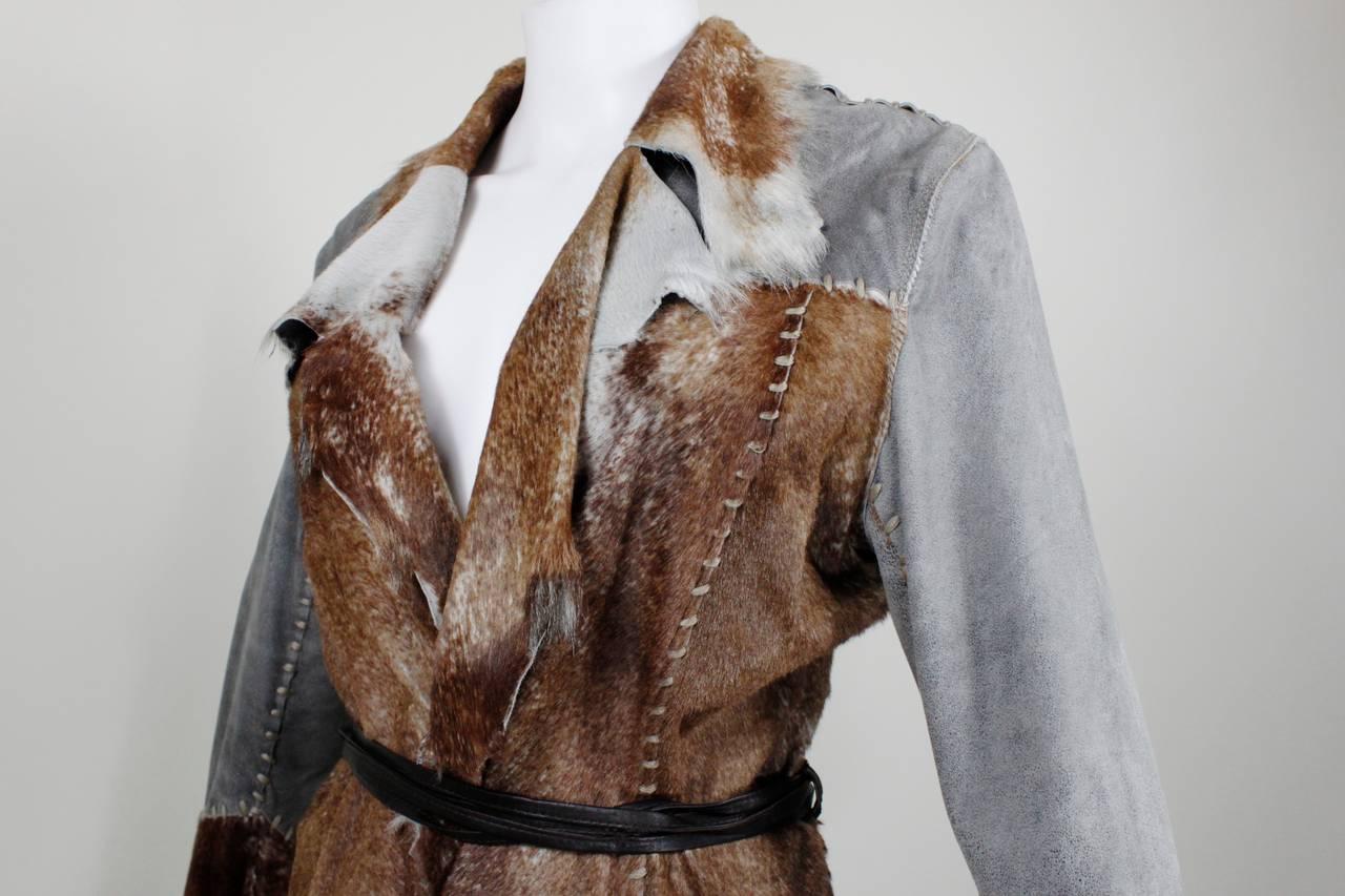 Schimmel Patchwork Raw Edged Goat Jacket 5