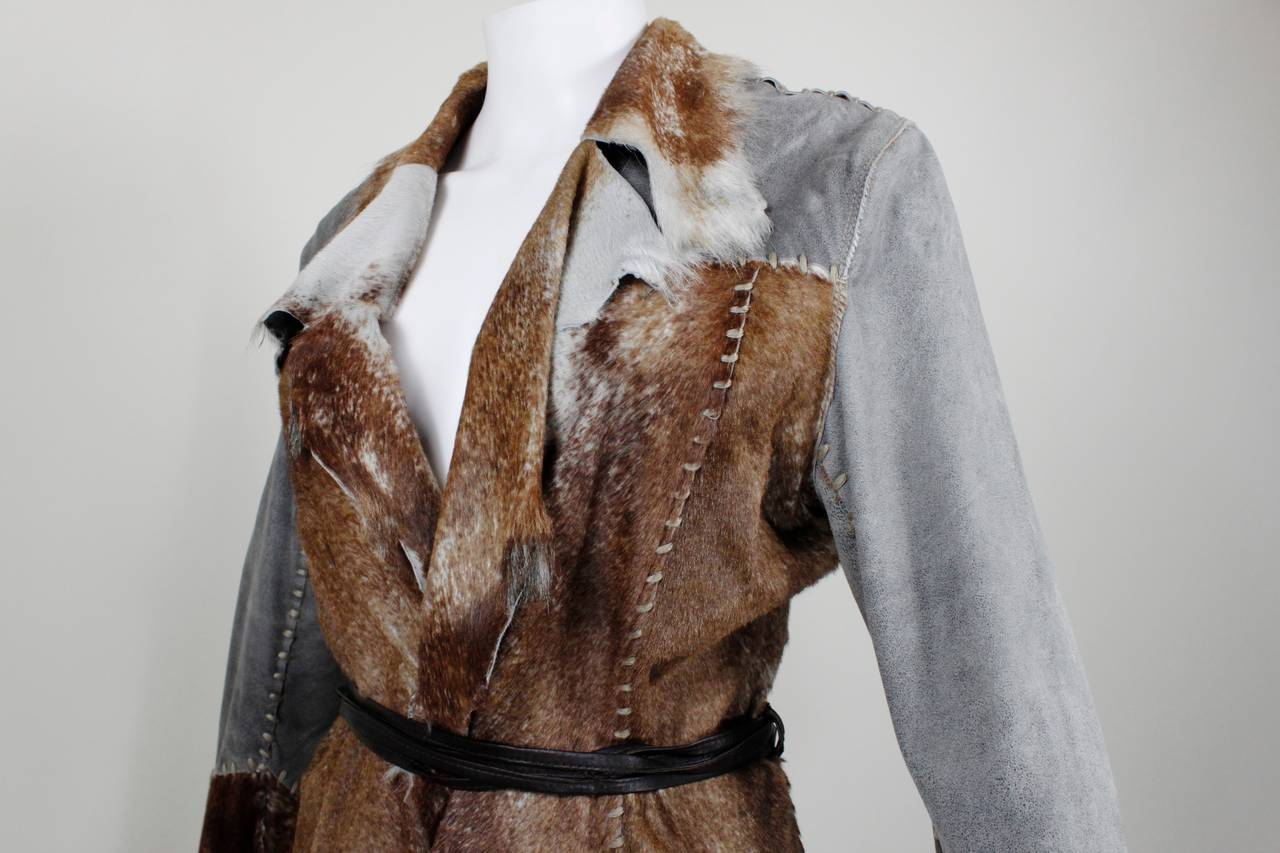 Schimmel Patchwork Raw Edged Goat Jacket 6
