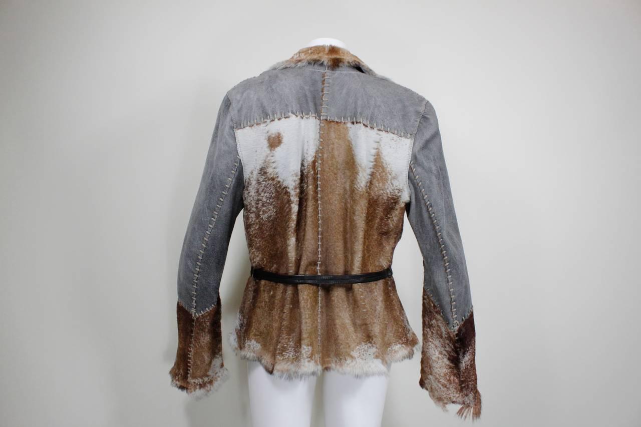 Schimmel Patchwork Raw Edged Goat Jacket 4