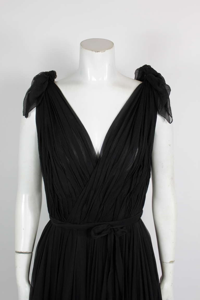 Alexander McQueen Black Swan Chiffon Cocktail Dress 3