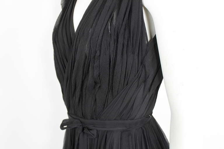 Alexander McQueen Black Swan Chiffon Cocktail Dress 5