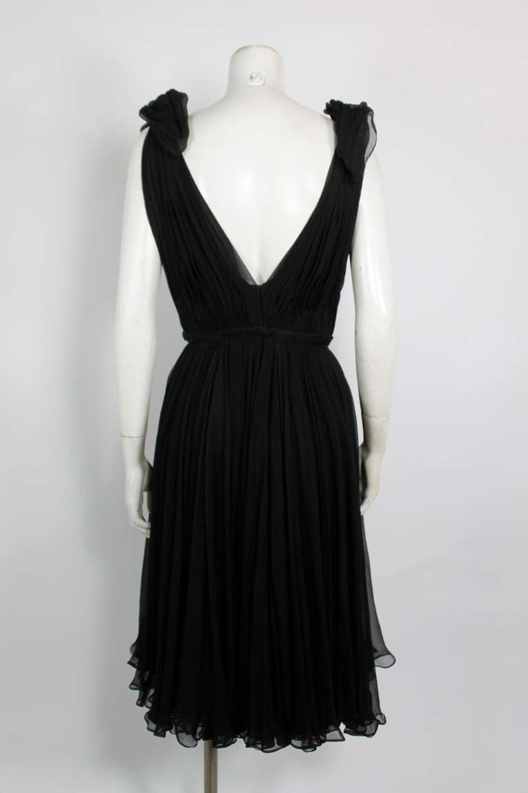Alexander McQueen Black Swan Chiffon Cocktail Dress 7