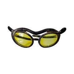 1950s Paulette Guinet Attribution Snake Sunglasses
