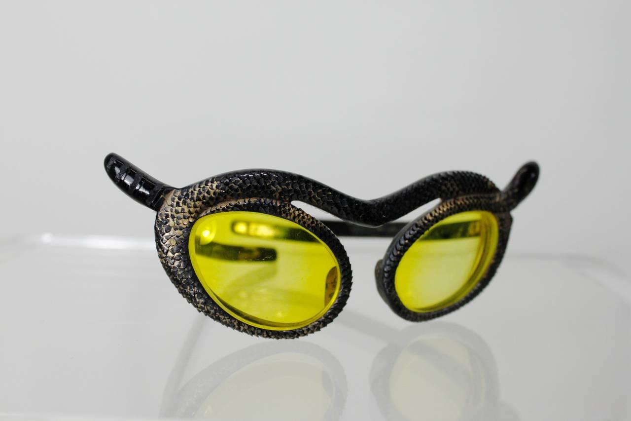 1950s Paulette Guinet Attribution Snake Sunglasses For