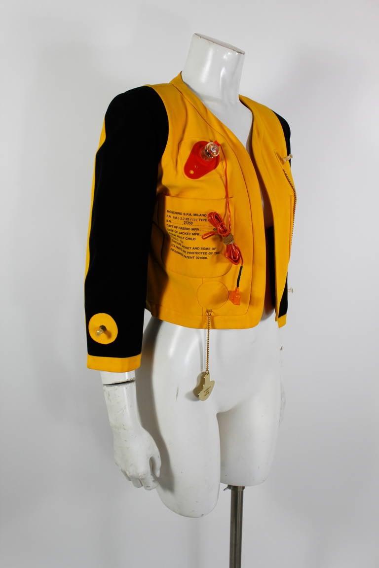 "Moschino 1989 ""Cruise Me Baby"" Life Preserver Jacket 2"