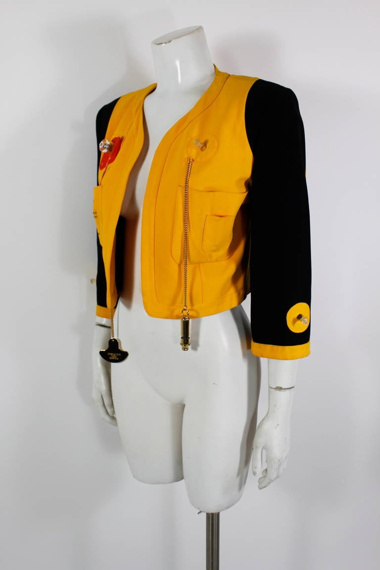 "Moschino 1989 ""Cruise Me Baby"" Life Preserver Jacket 5"
