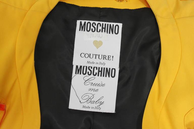"Moschino 1989 ""Cruise Me Baby"" Life Preserver Jacket 10"