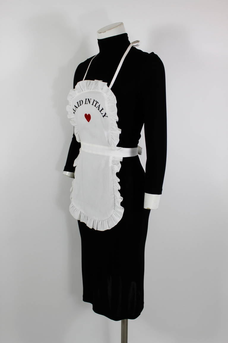 "Moschino Fall/Winter 2001 Black and White ""Maid in Italy ..."