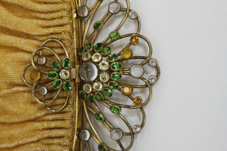 Josef 1950s Canary Yellow Hand-Beaded Clutch with Hobé Hardware 4