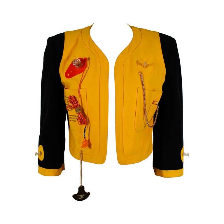 "Moschino 1989 ""Cruise Me Baby"" Life Preserver Jacket 1"