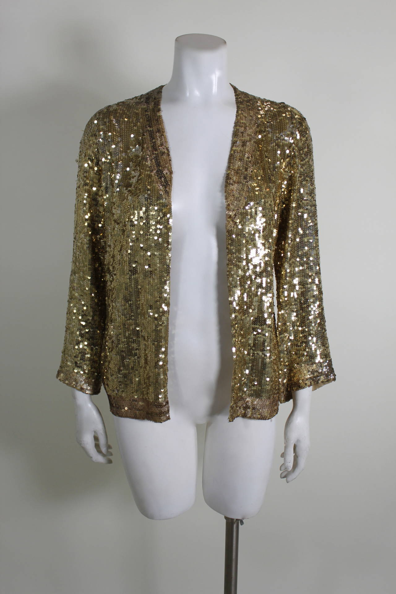 1930s Brilliant Gold Sequined Evening Jacket At 1stdibs