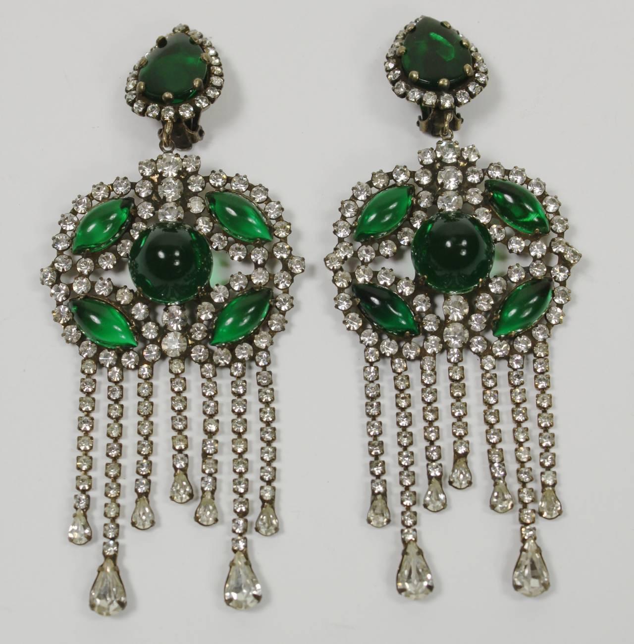 1960s kenneth jay lane fabulous emerald green chandelier