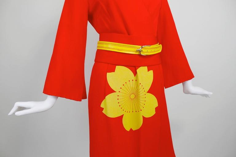 1980s Hanae Mori Blossom Obi Cocktail Dress 6