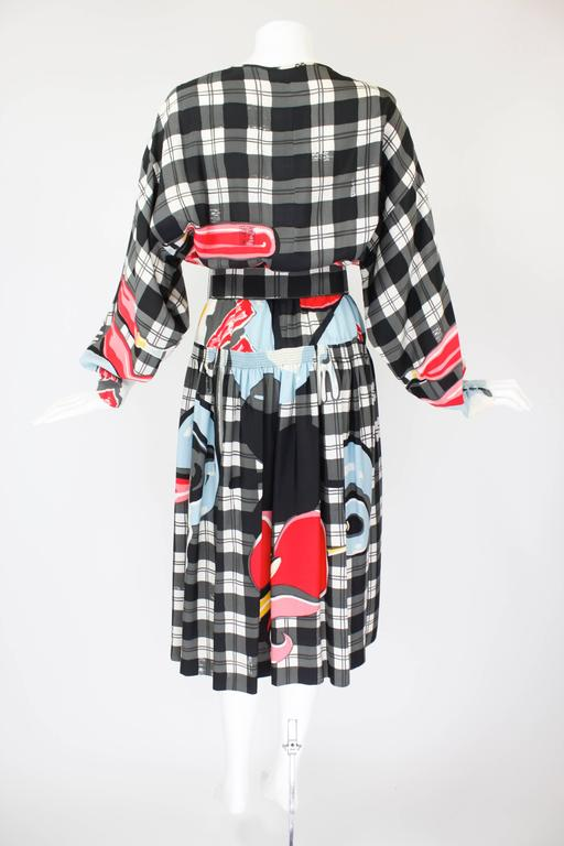1980s Vollbracht Belted Breakfast Novelty Dress 5