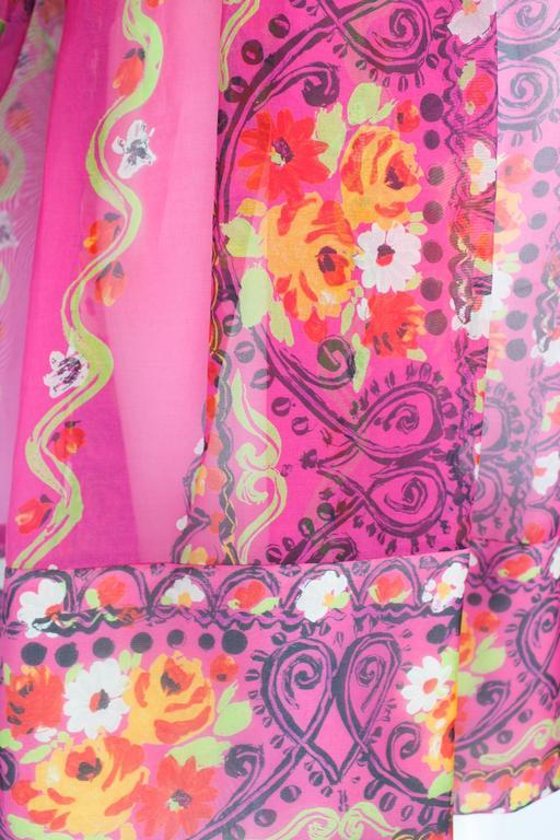 1980s Christian Lacroix Silk Organza Bare Shoulder Party Dress 7